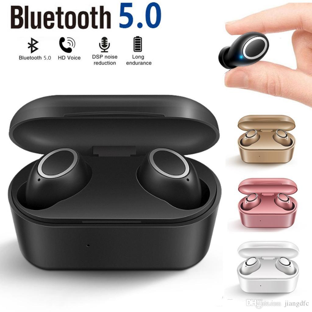 New D015 TWS touch Wireless Bluetooth V5.0 Headphones Sport Bluetooth Earphone With Charger Box for ios Andriod Smart Phones free shiping