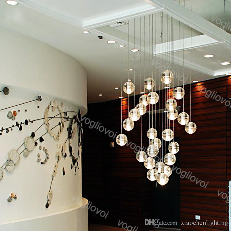 Crystal Chanselier Lighting G4 Светодиодный стеклянный шар с пузырем метеор дождя потолочный светильник метеорический вариант для внутренней гостиной душевой лестницы бар DHL