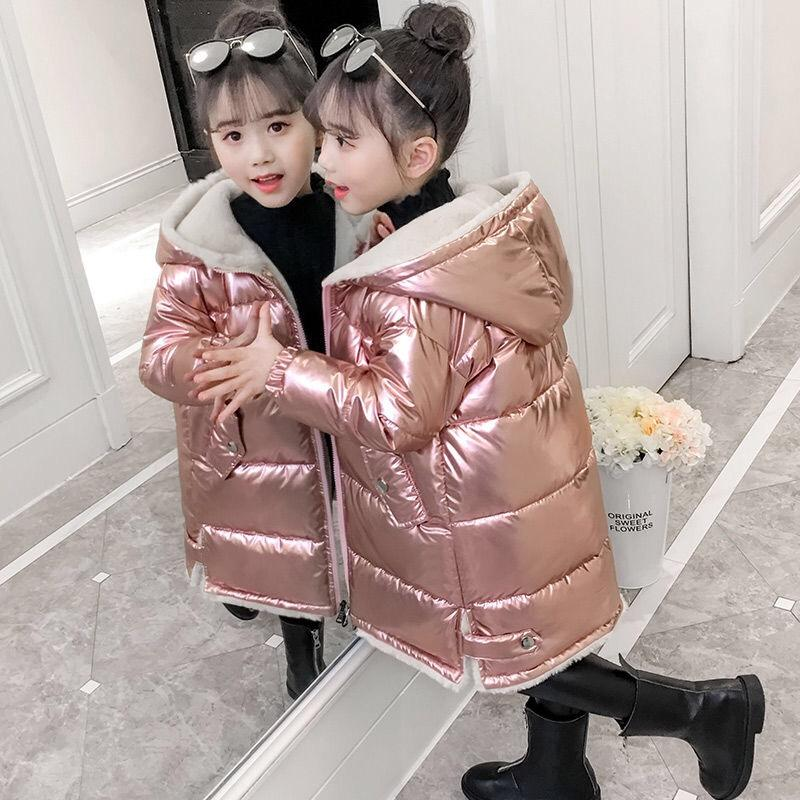 Girls Coats Winter Jacket Kids Down Cotton Coat Waterproof Snowsuit Hooded Parka Stylish Girls Down Jackets Children Outerwear