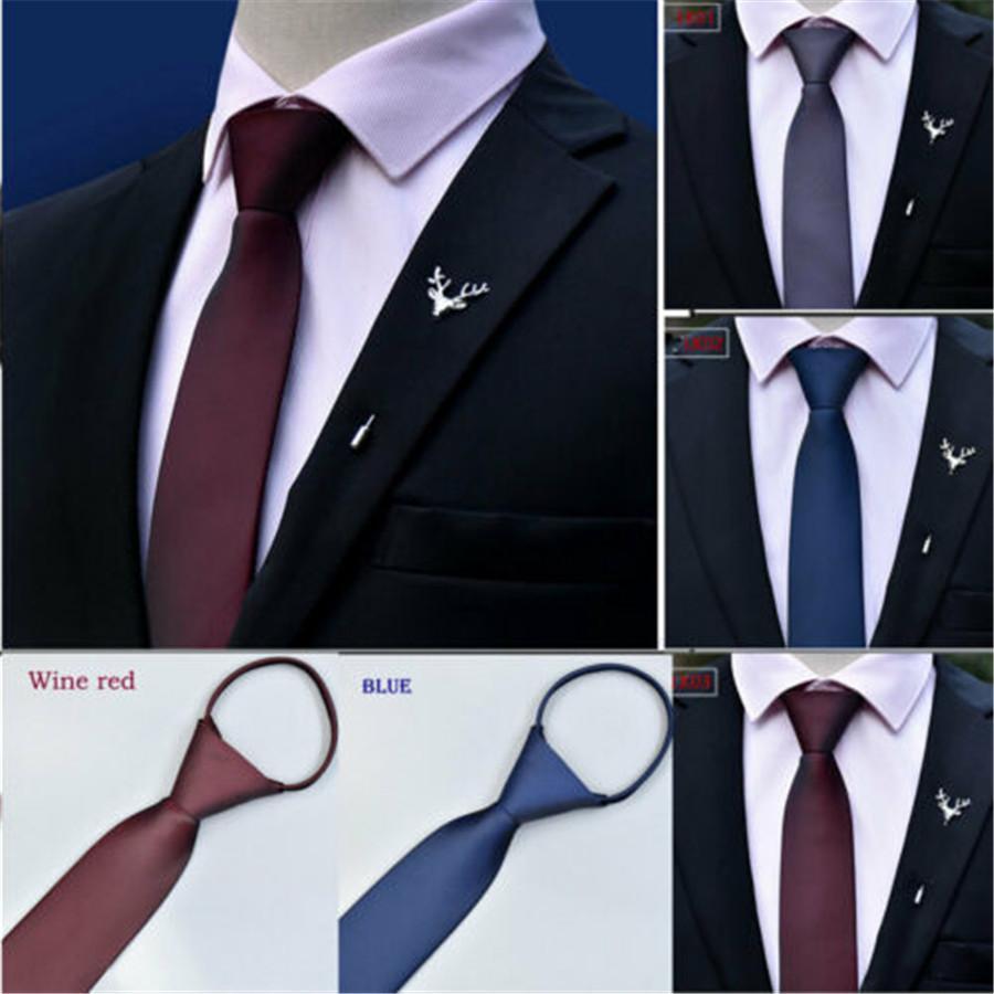 2019 fiesta de la boda de la cremallera nuevo estilo de los hombres de moda del lazo formal corbata de negocios