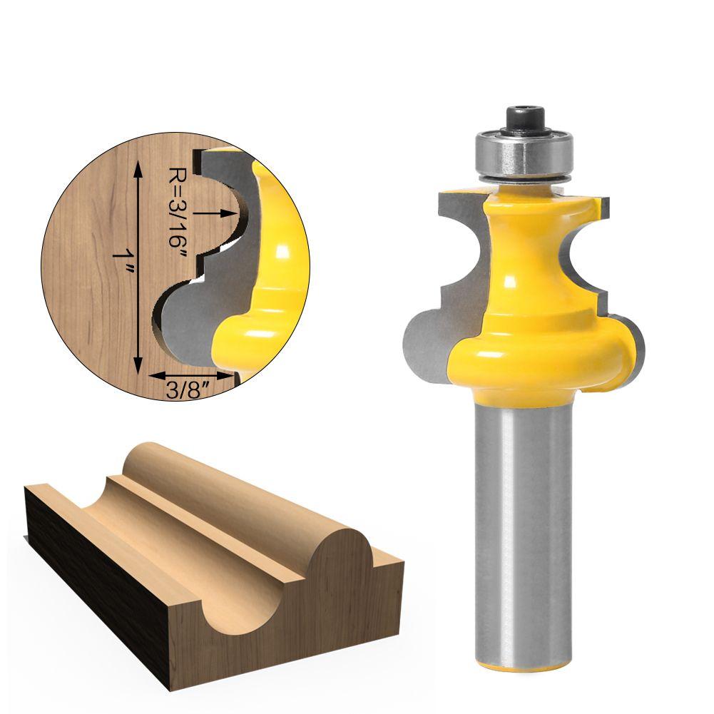 """12 milímetros 1pc 1/2"""" Shank Bead Molding Router Bit Beading Linha Flauta Carpintaria Tenon fresa para ferramentas de madeira"""
