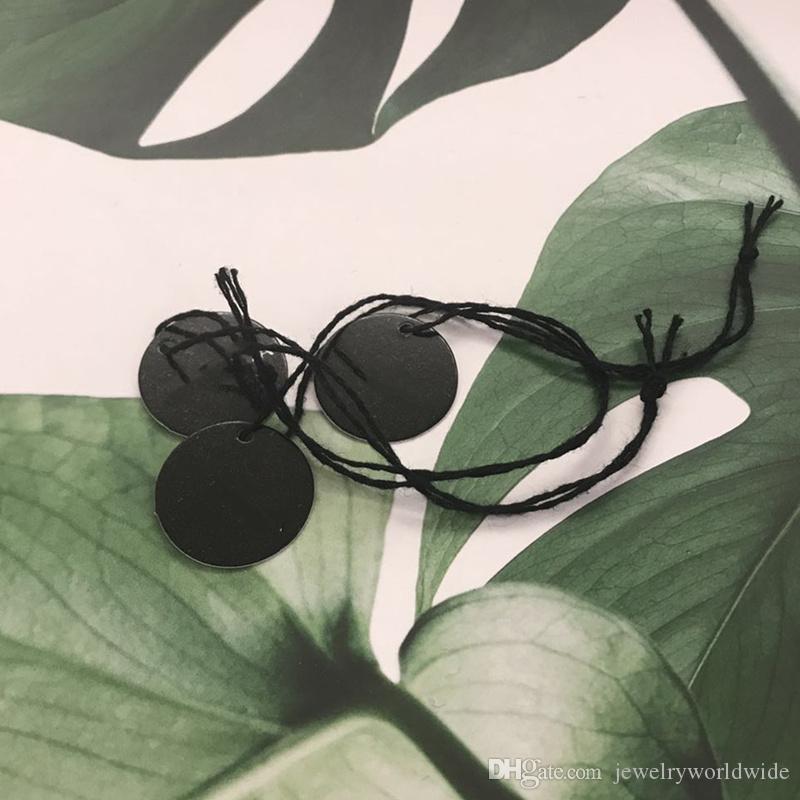 Schwarze Front-Tag-Label für Ihren Schmuck hinzufügen Mehrwert auf Ihre Produkte Fit für Pandora