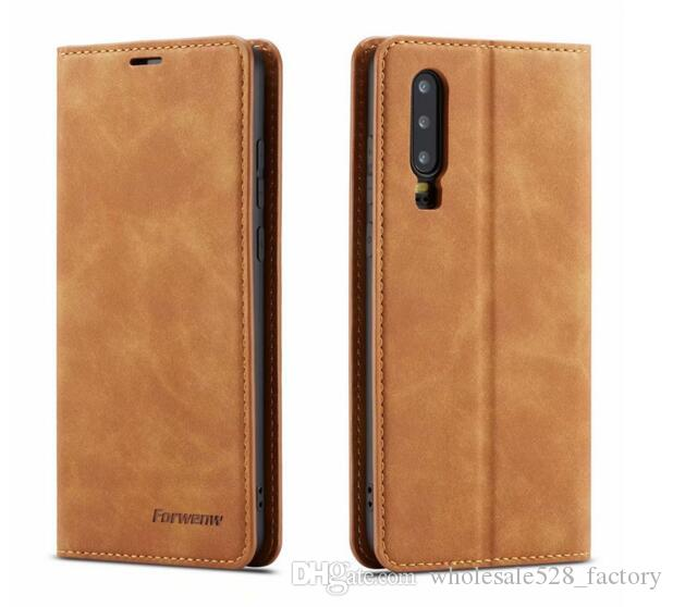 Forwenw 자기 가죽 지갑 케이스 카드 슬롯 플립 마그네트 커버 iphone11 13 13 13 13 13 13 13 13 엑스 삼성 S10 Huawei P20