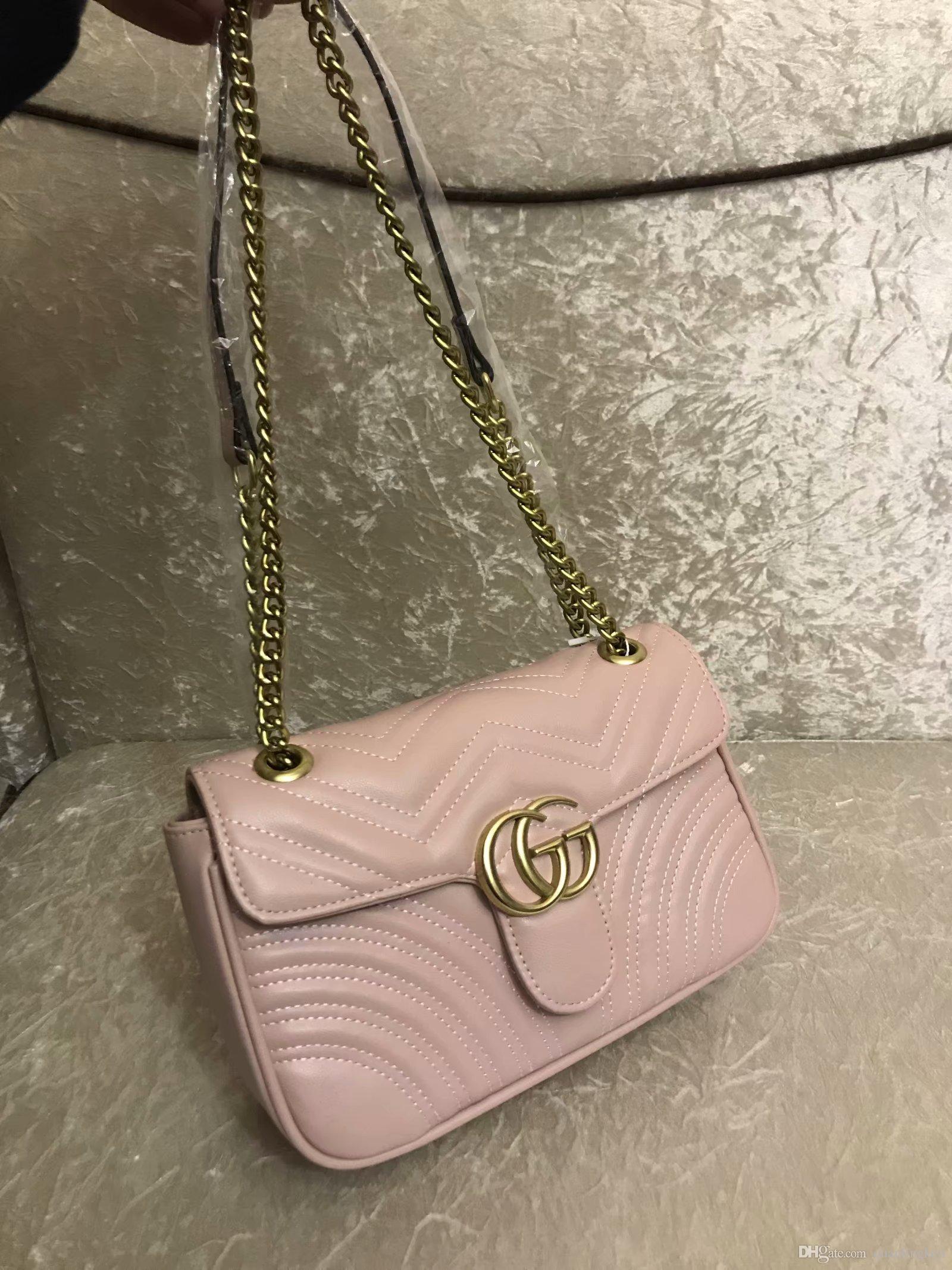 2020 heiße Verkaufsfrauen Designer Handtaschen diagonale Kurier Schulterbeutel-Kettenbeutel gute Qualität PU-Leder Geldbörsen Damenhandtasche 024