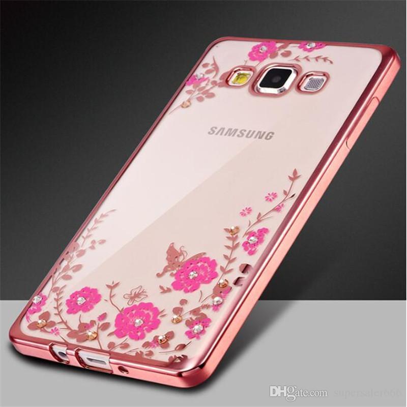 телефон случае Secret Алмазного Case Garden для самсунга s9 s8 note9 Chic цветов Bling Soft TPU Clear гальванического Телефон задней крышки для Samsung