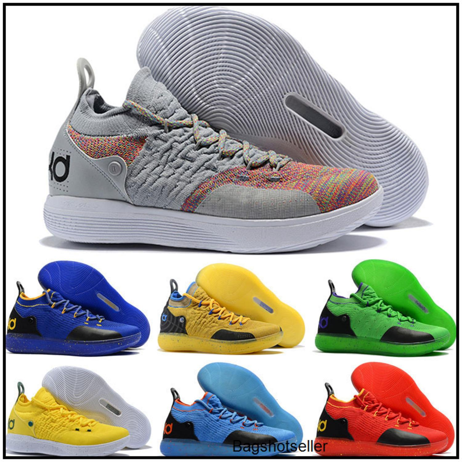 2020 KD 11 Gold Splatter KD Paranoid Twilight Pulse Cool Grey Mens Kids Basketball Shoes Zoom Kevin Durant 11 Sport Shoes Sneakers