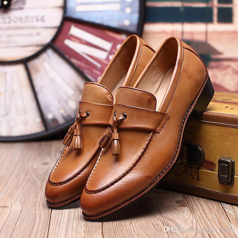 mocassini uomini scarpe da sera in pelle nappa scarpe da uomo sposo scarpe moda scarpe uomo eleganti sepatu pria sapato sociale masculino Calzado hombre