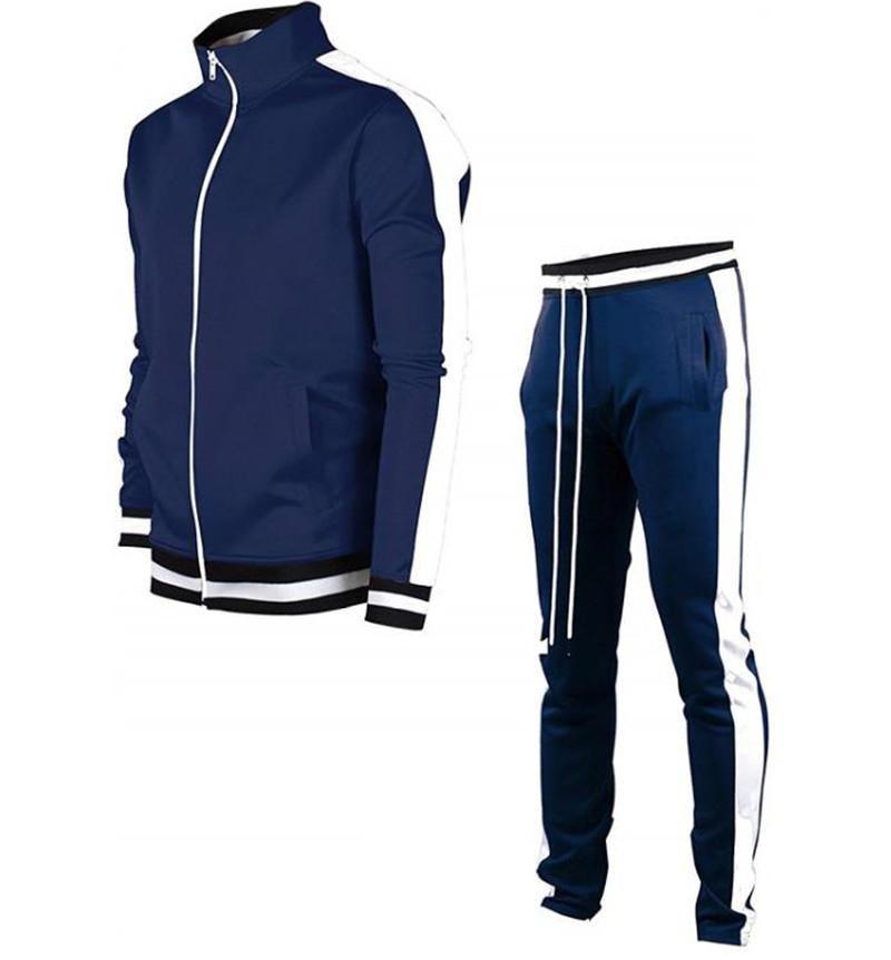 Womens Designer 3Colors lambrissé Mens Designer Survêtements Fashion Zipper col longues Pantalons Hommes 2PCS Ensembles hommes Vêtements décontractés