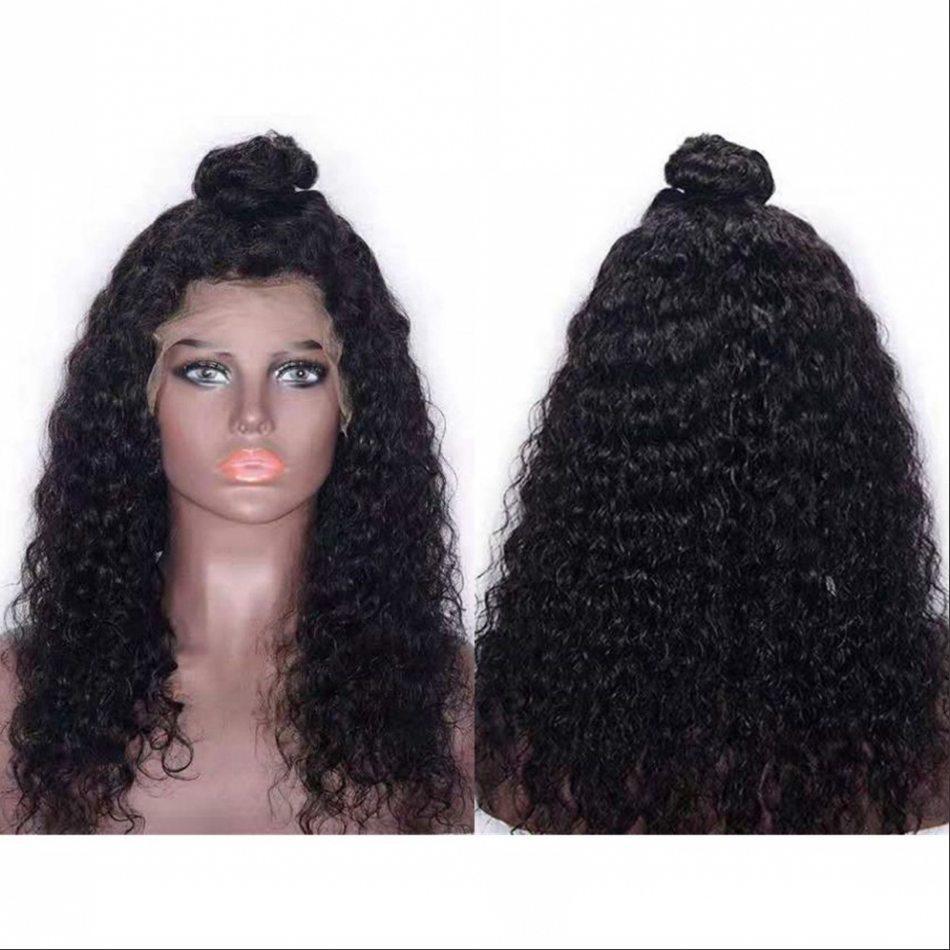 물 파 사람의 모발 가발 130%밀도 전 뽑아 캄보디아 Virgin 머리 앞 레이스 가발 흑인 여자