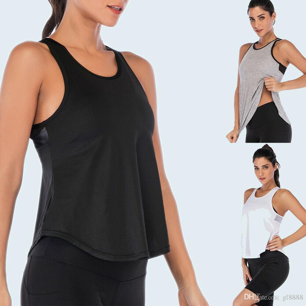 Новые Горячие Женщины Лето Фитнес Спорт Рубашка без рукавов Йога Top Бег Mesh Упражнение Gym Рубашка Tank Top Vest