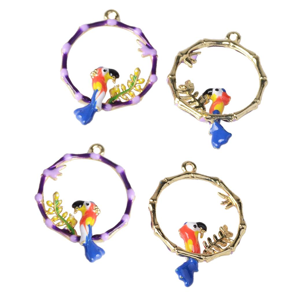 4pcs Baby Shower Gifts Bird Garland Pendants Hanging Ornaments Earrings Findings Souvenir Garment Showing Crafts.