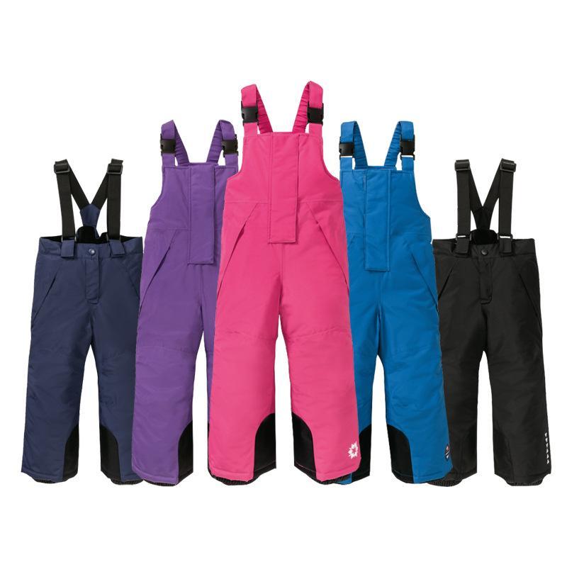 Дети Сноуборд брюки New Kids Лыжные штаны девочек ремешок лыжи водонепроницаемый ветрозащитный Теплый Толстые Мальчик Мальчики Комбинезоны