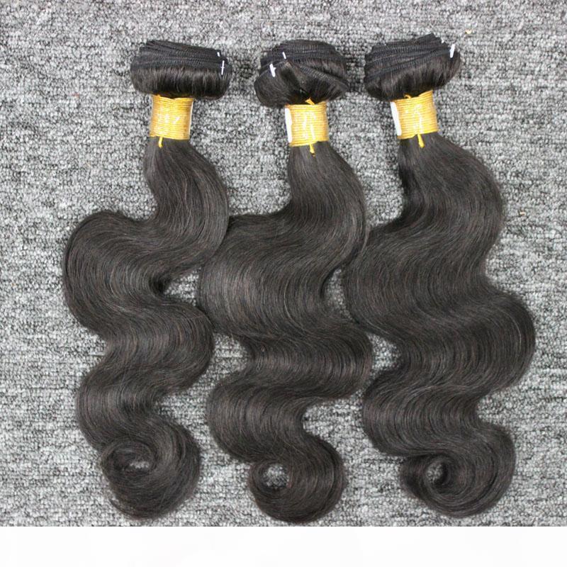 100% non trattati umani Hair Products 3 Bundle brasiliana dei capelli dell'onda 100% brasiliana dei capelli tesse ondulato in Stockl
