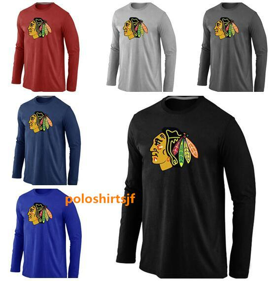 Uomini Chicago Blackhawks Authentic Vintage Sideline Fanatics marca Timeless Raglan a maniche lunghe T-Shirt