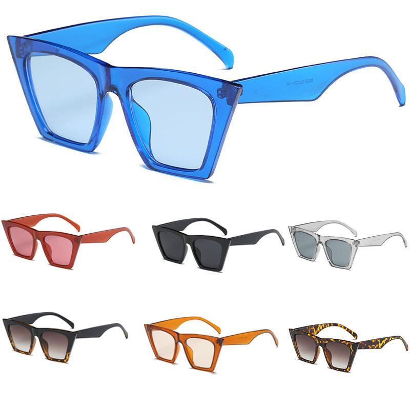 2020 clásicos de lujo gafas de sol mujeres plástico vintage caramelo color lente gafas de sol retro al aire libre deporte viaje lentes de sol mujer gafas