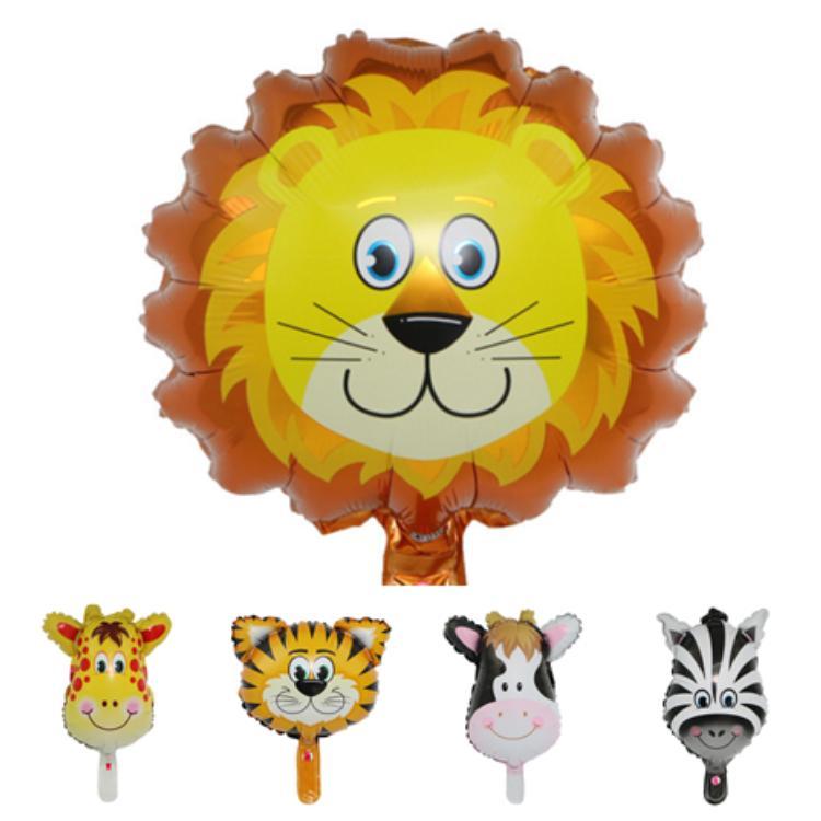 Sıcak Satış 6 stil renkli sevimli hayvan balonlar karikatür alüminyum filmi balonlar doğum günü partisi dekorasyon çocuk oyuncak balonlar T2G5017