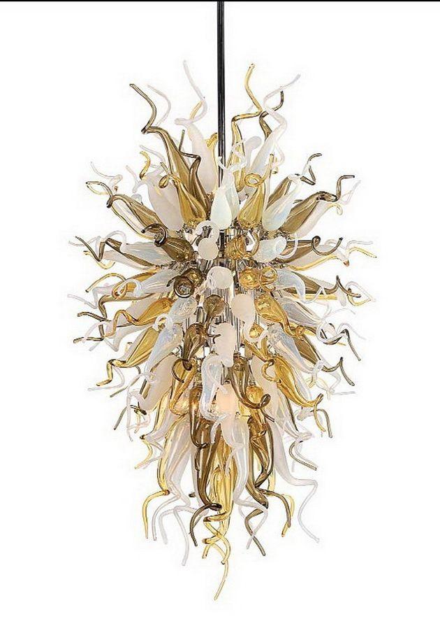 Lüks Pretty Avize Modern Sanat Dekor Kolye Işık Chihuly Style El Murano Cam Otel Avize Aydınlatma Üflemeli