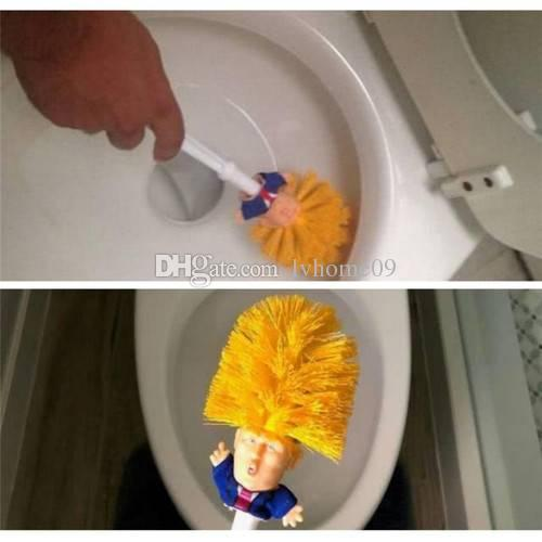 Trump Toilet Supplies Bathroom Cleaning Tools Toilet Brush Trump Toilet Brush Home Hotel Bathroom Cleaning Accessories Funny Gag Gift