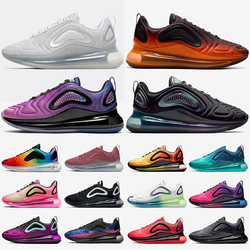 Acheter Des Chaussures Nike Air Max 720 Airmax Baskets Femmes Hommes New 2020 STOCK X Shoes Running Designer Sneakers For Mens Womens TOP QUALITY Oreo