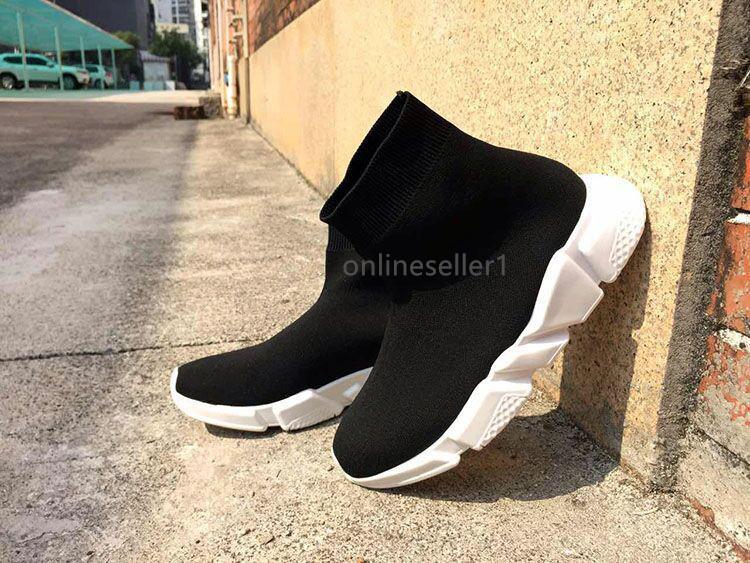 Desenhador Mulheres Homens Sock Sapatos de moda com desconto Preto Triplo vermelhas Branco Cinza Casual Shoes baratos Nova