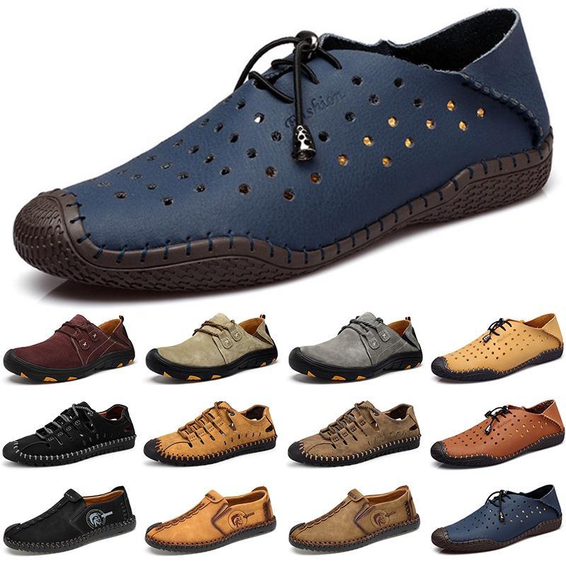 2020 Дизайнер роскошные мужские ботинки черные мокасины плоские замши скольжения по моде дышащие мужские тренеров кроссовки размер 38-45 color13