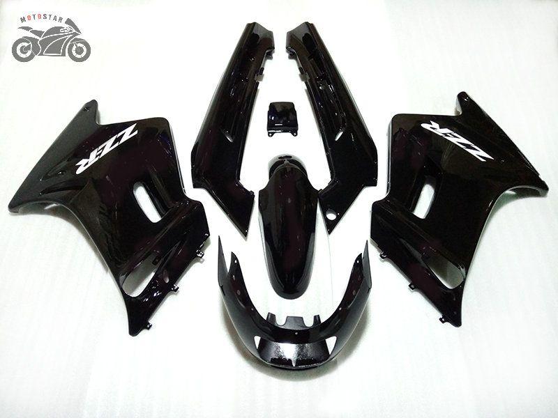 Anpassen Motorradverkleidungen Satz für Kawasaki ZZR250 1990-2007 alle dunklen Körper Reparatur Chinese Verkleidung Kits ZZR 250 90-07 ZZR250