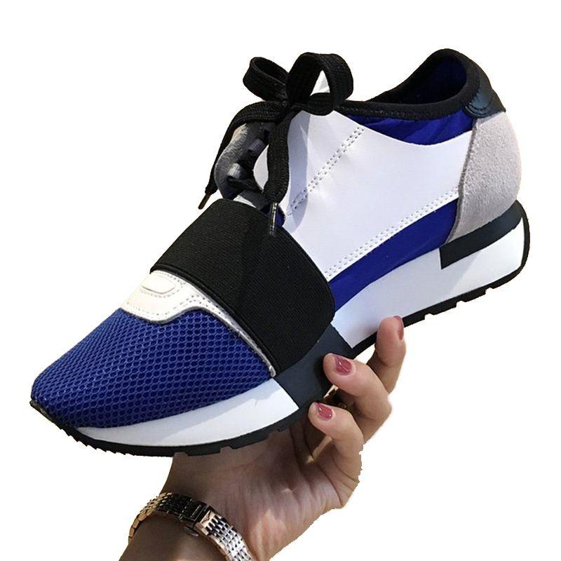 Top qualité Fashion Luxury Designer Chaussures Femmes Chaussures de course Étoile de sport Chaussures de course bas-top antidérapants classique Pointy Mesh Fitness Chaussures
