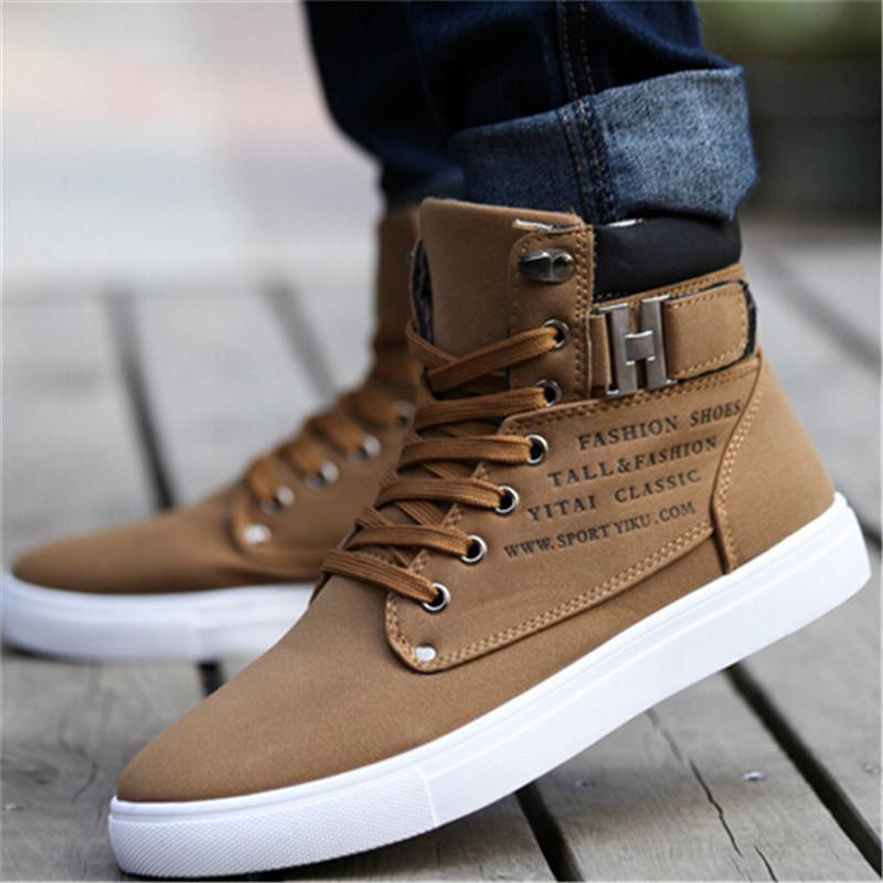 Chaussures Casual Toile Bottes Hommes Solide Couleur Chaud léger et confortable 2020 Automne Hiver Nouveau