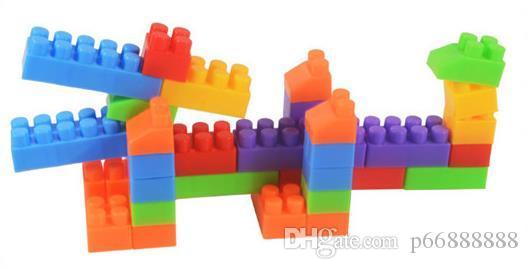 Children DIY plastic building blocks barreled baby kindergarten early education puzzle assembly toys
