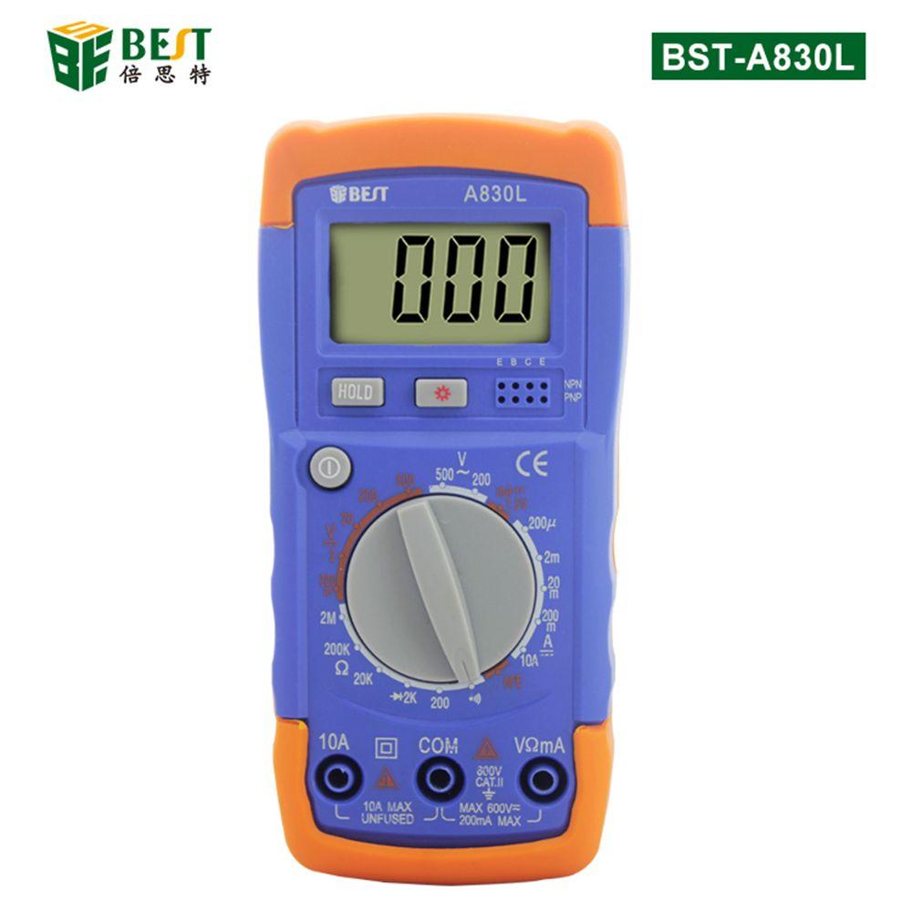 A830L LCD Digital Multimeter DC AC Voltage Diode Freguency Multitester Volt Tester Test Current
