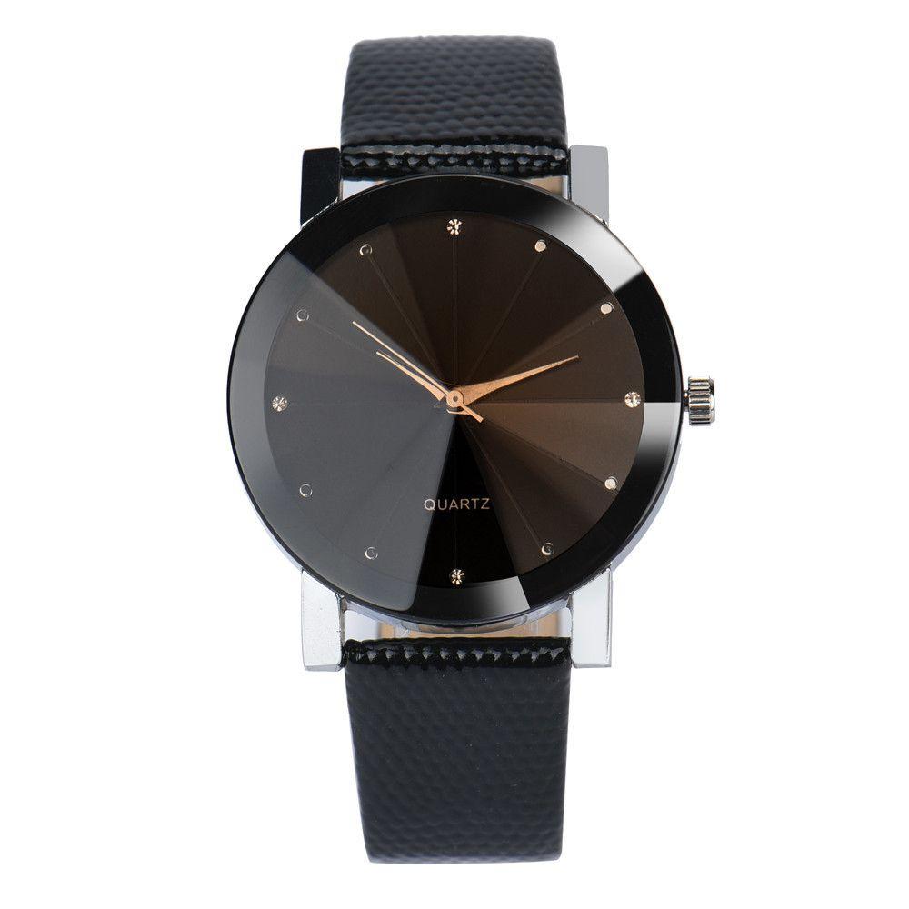 Pulseras calientes Womens Quartz Sport acero inoxidable Dial cuero reloj de pulsera para mujeres pulseras joyería regalo envío de la gota