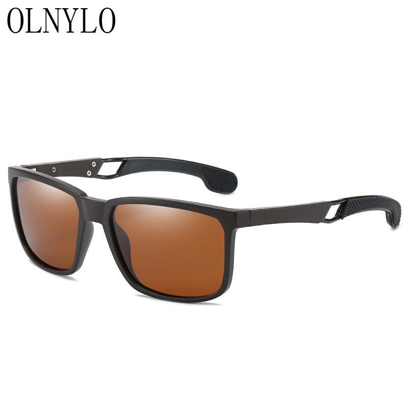Neue Art und Weise Art Marken-Männer Sonnenbrille polarisierte Rectangle Rahmen Polar UV400 Männlich Sonnenbrillen Herren Brillen
