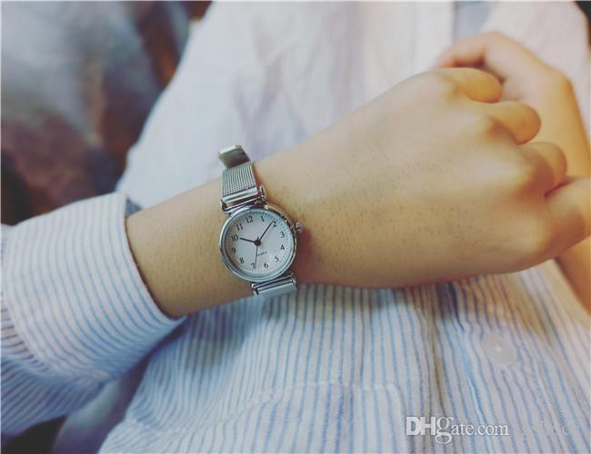 الفولاذ المقاوم للصدأ سيدة الساعات سبيكة الذهب روز كوارتز المرأة مصمم الساعات اللباس الأعمال جلاتين للنساء أفضل هدية