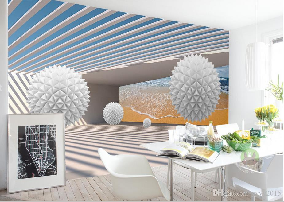 Großhandel 3d Dreidimensionale Runde Kugel Gebäude Foto Tapeten Für Wand 3d  Wohnzimmer Schlafzimmer Shop Bar Cafe Wände Wandbilder Rolle Papel De ...