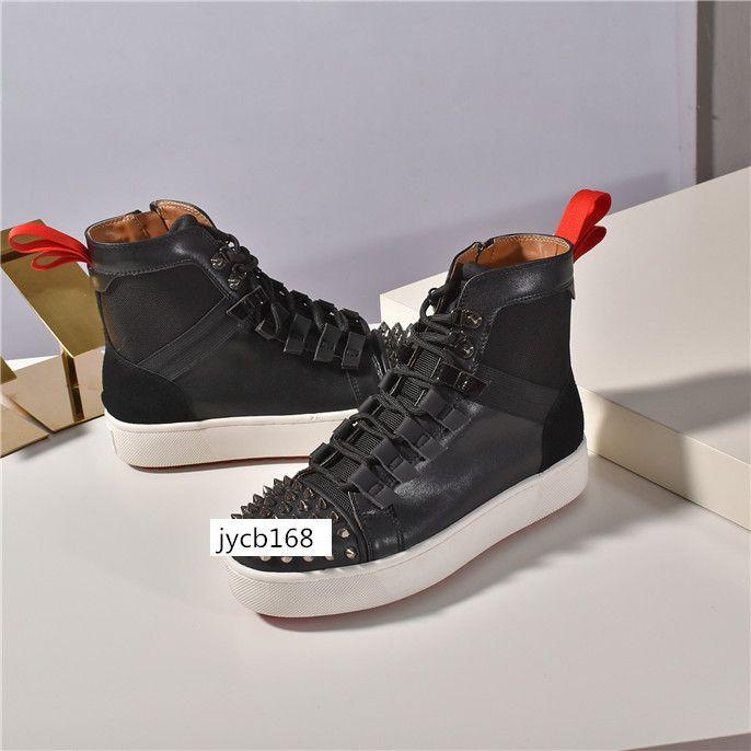 Designer Ultimi all'ingrosso di fondo delle scarpe da tennis del calzino Donna Appartamenti con Krystal Spikes, Rosso Sole Sneakers per Uomo Donna D'shoes3 originale Go