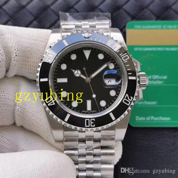 2020 Cerâmica melhor qualidade moldura Stanless Aço Mecânica Automatic homens de negócios Mens Sprot Relógios de pulso