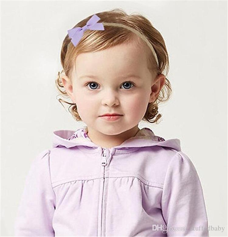 2019 20 colores 2,5 pulgadas bebé de la cinta del pelo del arco Accesorios recién nacidos niñas con el pelo arquea las vendas de moda elástico Hairbands Bastante infantil