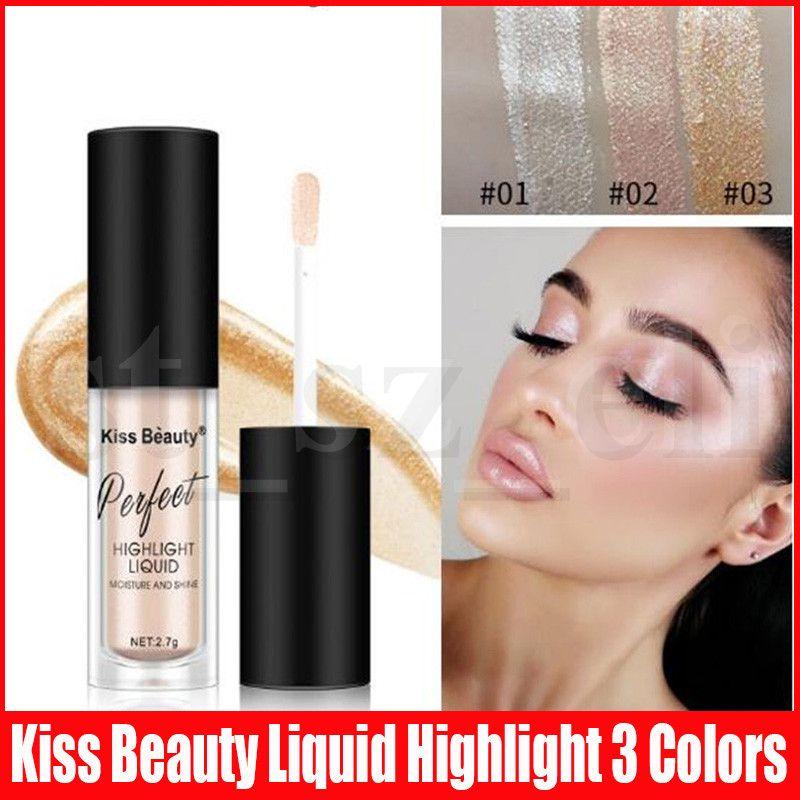 Kiss Beauty Illuminator Contouring Makeup Liquid Highlighter Face Brightener Concealer Primer Bronzer Face Glow Cosmetics 3 Colors