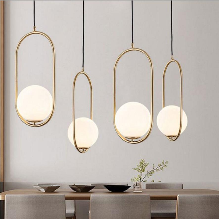 Simple bar dining room chandelier ball single end bar dining room corridor lamp glass office living room wall lamp