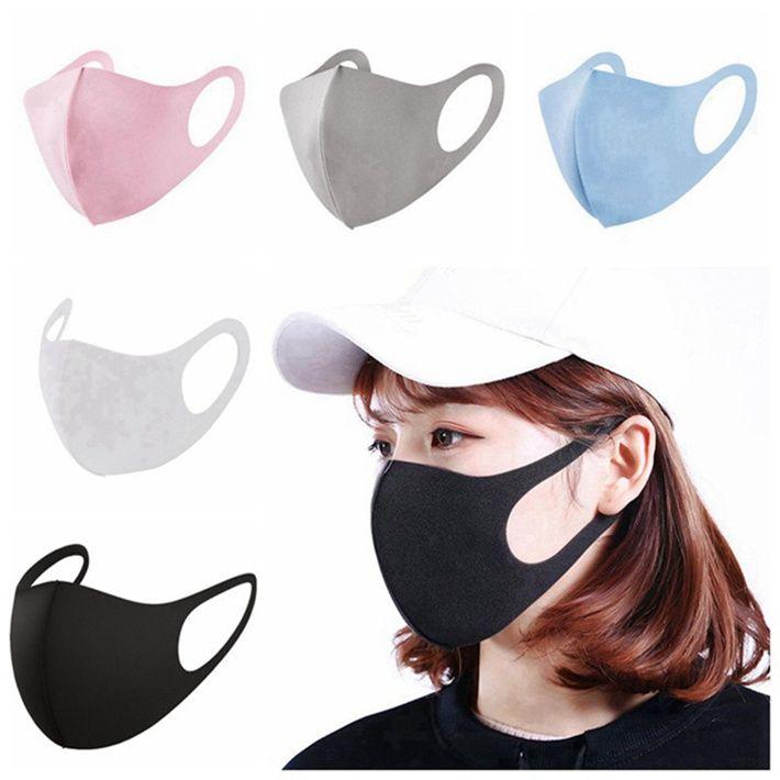 Accessoires de mode anti-poussière Visage Bouche Couverture PM2,5 Masque Respiratoire antipoussière Anti-bactérien lavable réutilisable de glace en soie coton 1000pcs