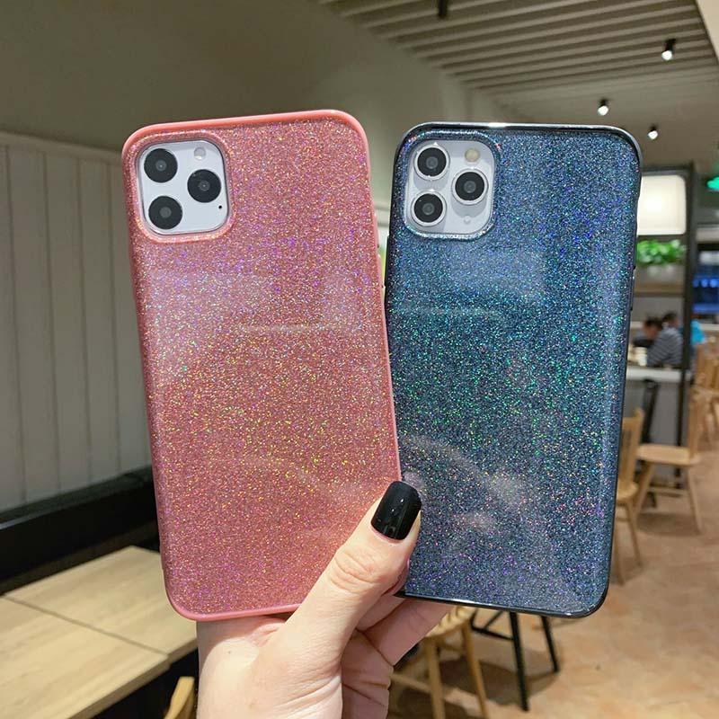 Bling Kristall Flüssiges Glitzern 360 Schutz Designer-Telefon-Kasten TPU EDGE PC rückseitige Abdeckung für iPhone pro max Samsung S10 huawei 30 zu paaren