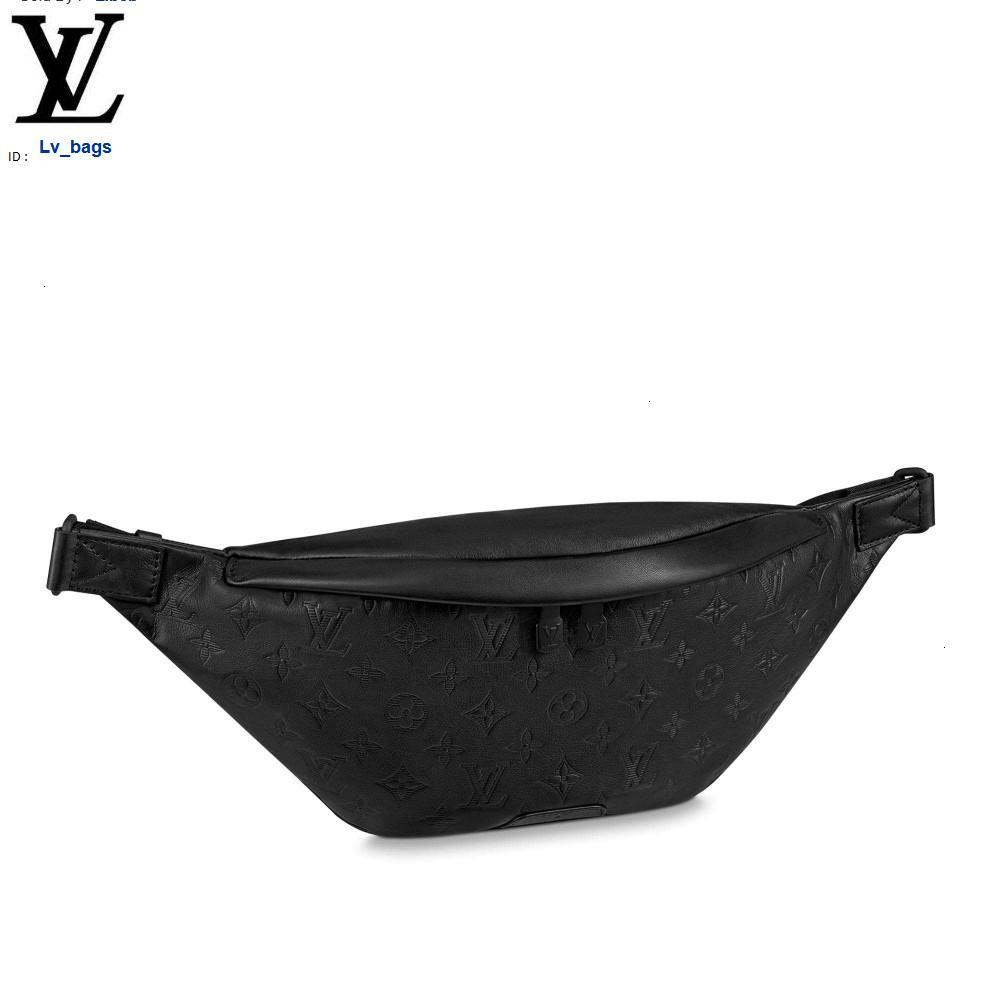Yangzizhi New M44388 Black Full Leather Embossed Discovery Waist Bag / Chest Bag Handbags Bags Top Handles Shoulder Bags Totes Evening Cross