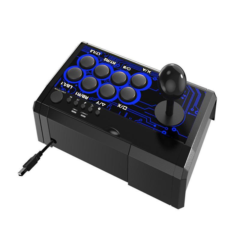 DOBE TP4-1886 7 in 1 Retro Arcade-Kampf Analog Stick Game Controller Joystick Wippe für Schalter PS4 PS3 für XBox One360 PC Android Games