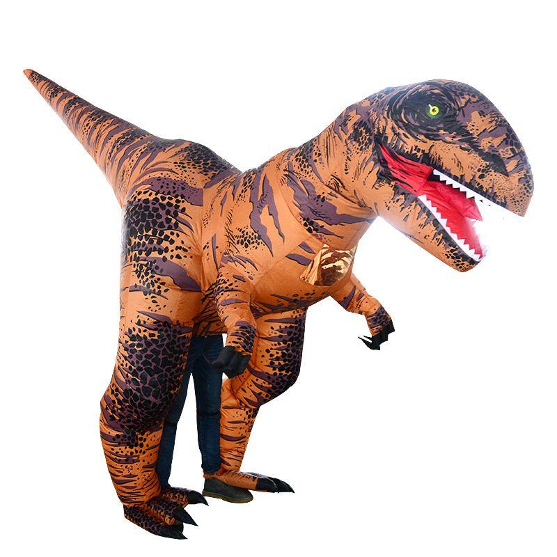 Cadılar Bayramı Noel Fantezi Parti karnaval kıyafetleri Suit Yürüyüşü Ücretsiz T-Rex Kostüm Yetişkin Boyutu Şişme Dinozor Kostüm