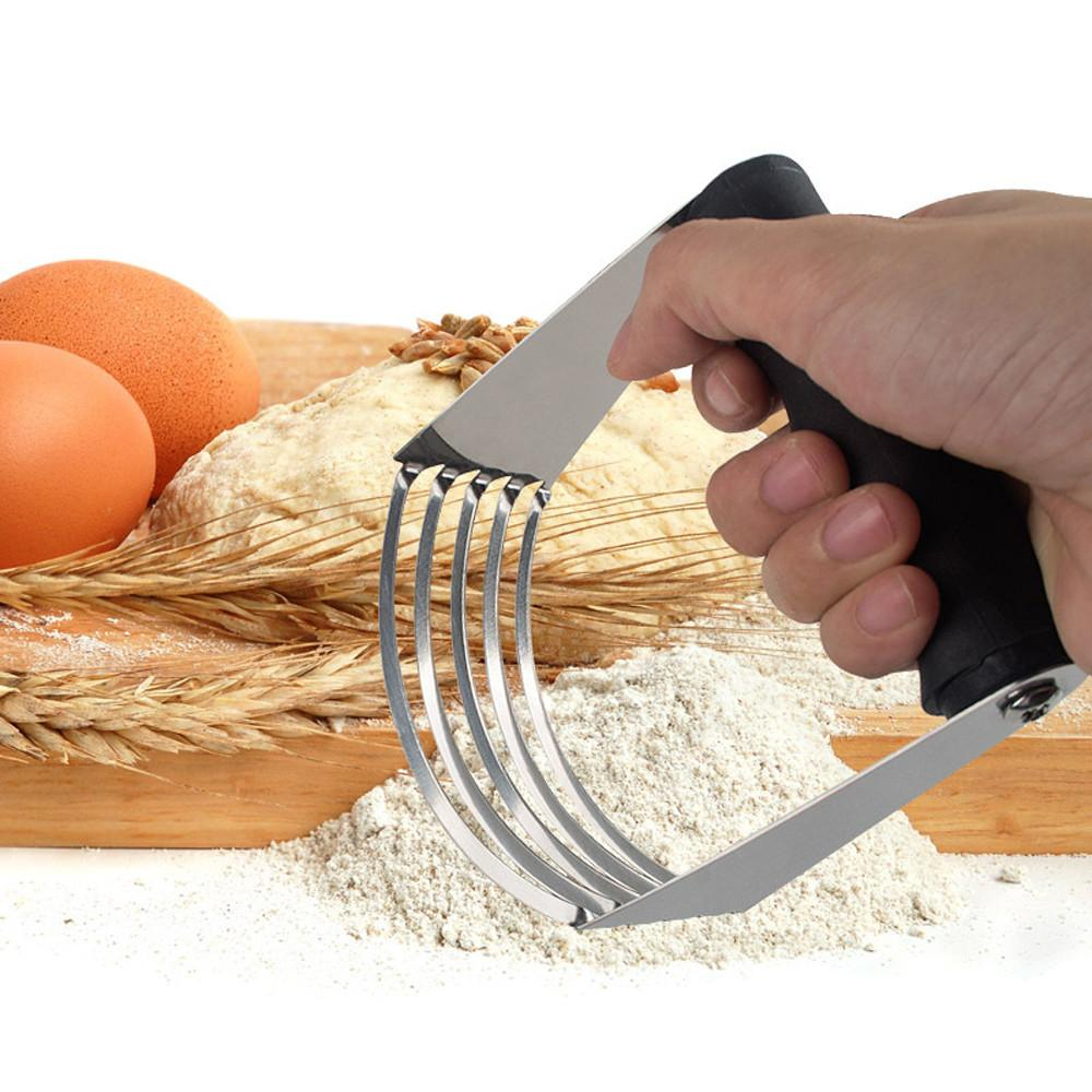 Paslanmaz Çelik Powderer Tereyağı Un Erişte Bıçak Patates Cips Pişirme Araçları Karıştırma