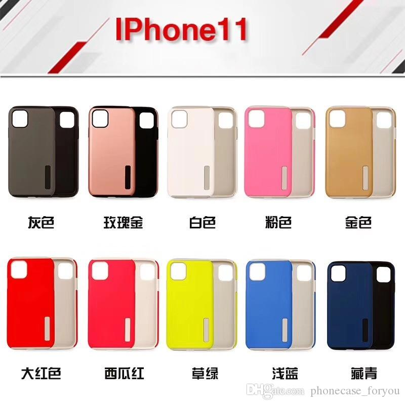 Defender Cover For iPhone 2019 6.1 inch 6.5 inch 5.8 inch TPU Hard PC 2 In 1 Hybrid Shockproof Case