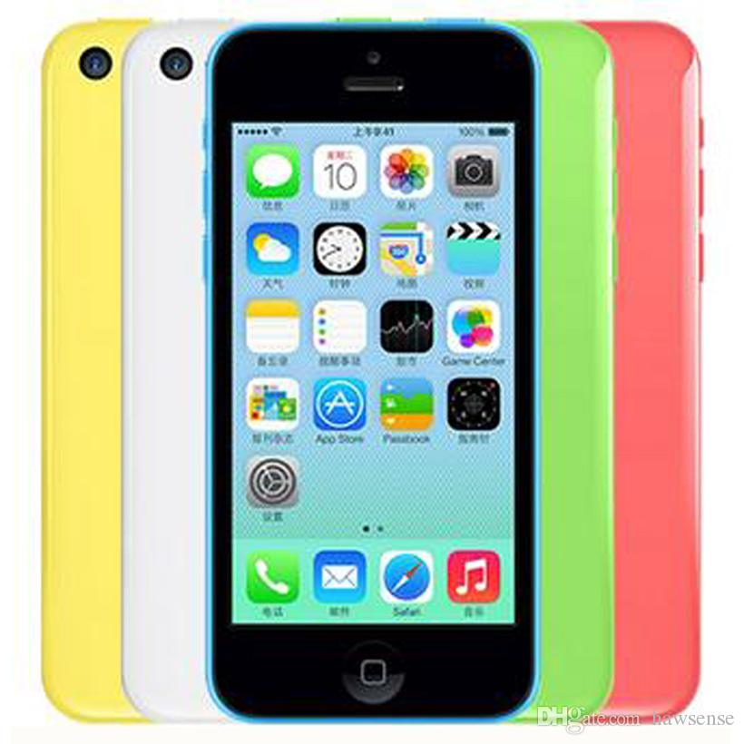Refurbished Original Apple iPhone 5C Unlocked 8G/16GB/32GB IOS8 4.0 inch Dual Core A6 CPU 8.0MP 4G LTE Smart Phone Free DHL 30pcs