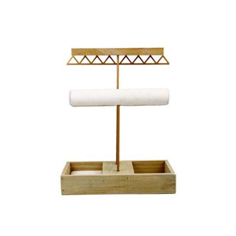 Brinco de Ouro da jóia de rack Organizer Titular Display Stand Jóias Metal Display Stand Mostrando para Colar Anel