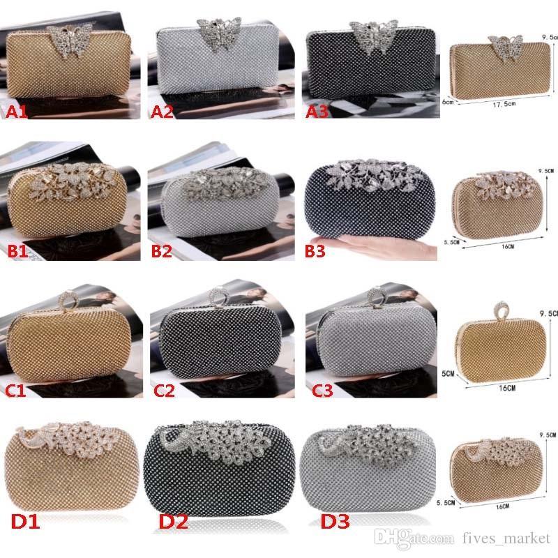 Роскошный бриллиантовый клатч вечерняя сумка дамы ужин пакет с платье дизайнер сумочка кошельки организация хранения сумка 18 стилей AN2075