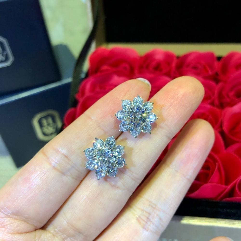 Perfeito brinco Senhoras acessórios New hot sale jóias de diamante deusa de prata austríaco brincos de ouro para as mulheres Áustria